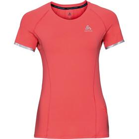 Odlo Zeroweight Ceramicool Koszulka do biegania z krótkim rękawem Kobiety czerwony